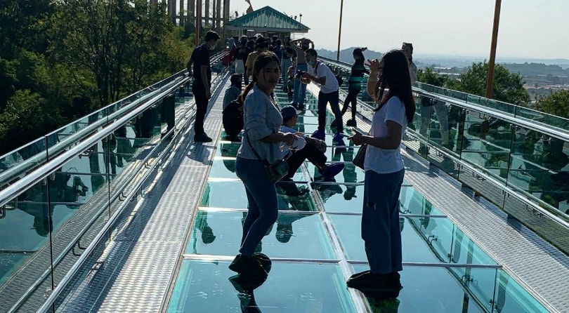 Glass bridges in Thailand.